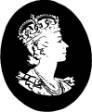 Профиль Елизаветы II факсимиле